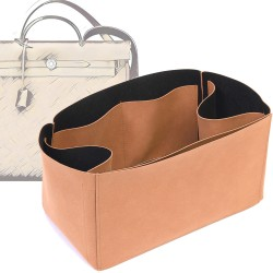 Regular Style Nubuck Leather Handbag Organizer for Herbag 39