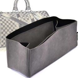 Regular Style Nubuck Leather Handbag Organizer for Keepall Models