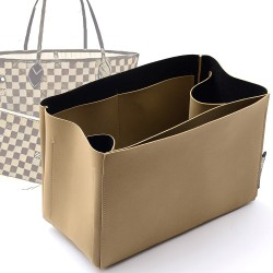 Regular Style Nubuck Leather Handbag Organizer for Neverfull Models