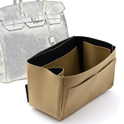 Singular Style Nubuck Leather Handbag Organizer for Birkin 35 and Birkin 40