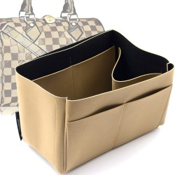 Singular Style Nubuck Leather Handbag Organizer for Speedy Models