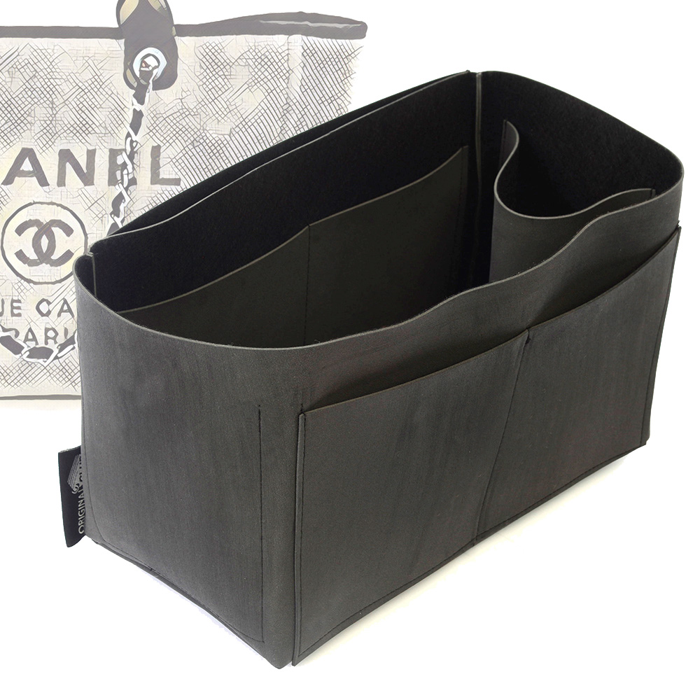 Singular Style Nubuck Leather Handbag Organizer for Chanel Deauville Canvas Large