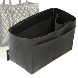 Singular Style Nubuck Leather Handbag Organizer for Chanel Easy Shopping Tote