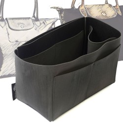 Singular Style Nubuck Leather Handbag Organizer for Le Pliage Models
