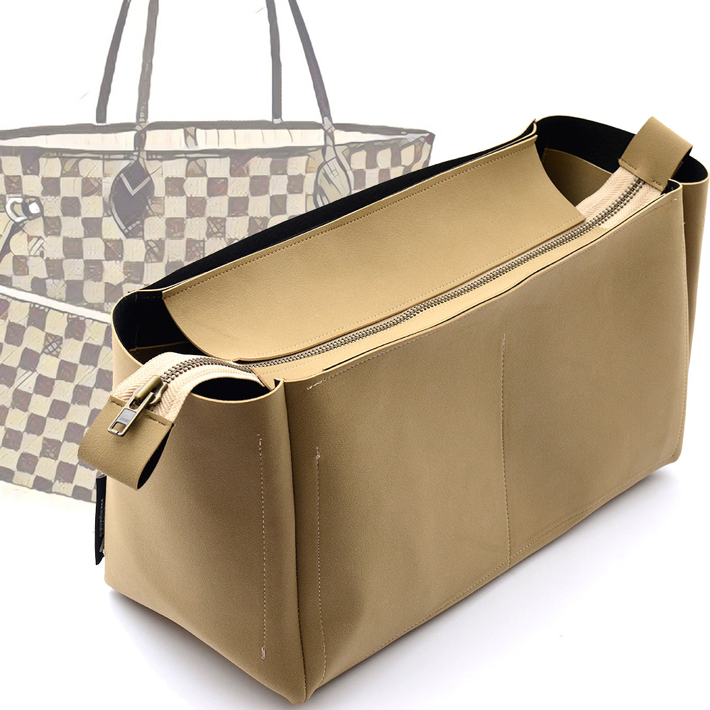 b906638bb6e9 Out of Stock Top-Zipper Style Nubuck Leather Handbag Organizer for Neverfull  Models