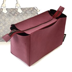 Top-Zipper Style Nubuck Leather Handbag Organizer for Speedy Models