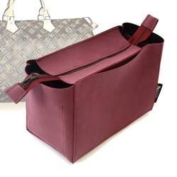 Top-Zipper Style Nubuck Leather Handbag Organizer for Speedy Models