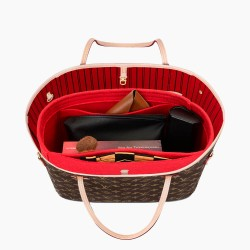 Bag and Purse Organizer with Basic Style for Neverfull PM, MM and GM in Cherry Red ( More Colors Available)