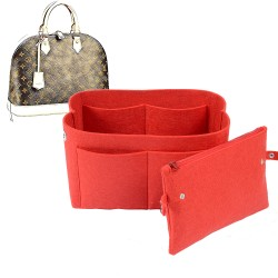 Bag and Purse Organizer with Clutched Style for Louis Vuitton Alma MM