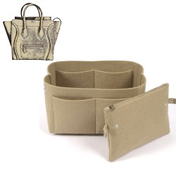 Bag and Purse Organizer with Clutched Style for Celine Mini Luggage Tote