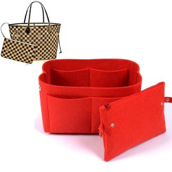 Bag and Purse Organizer with Clutched Style for Louis Vuitton Neverfull Models