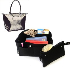 Bag and Purse Organizer with Clutched Style for Longchamp Le Pliage Large and Neo Large Tote Bag