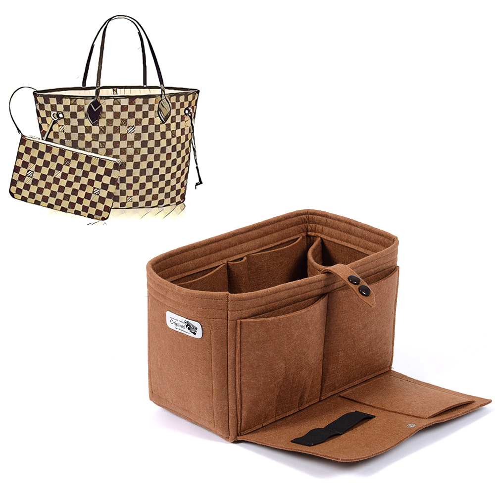 Bag and Purse Organizer with Flapper Style for Louis Vuitton Neverfull
