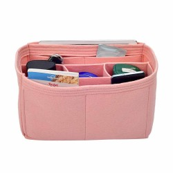 Handbag Organizer with Chambers Style for Louis Vuitton Neverfull PM, MM and GM (Blush Pink) (More Colors Available)