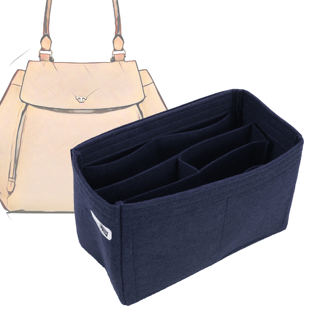Bag and Purse Organizer with Chambers Style for Tory Burch Half-moon Tote