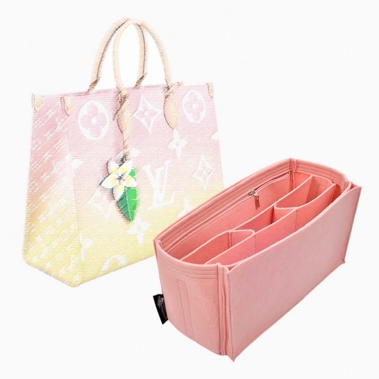 Handbag Organizer with Multicompartments Style for Louis Vuitton OntheGo MM and GM ( More Colors Available)