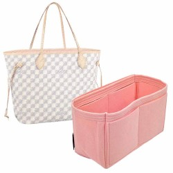 Handbag Organizer with Singular Style for Louis Vuitton Neverfull PM, MM and GM (Blush Pink) (More Colors Available)
