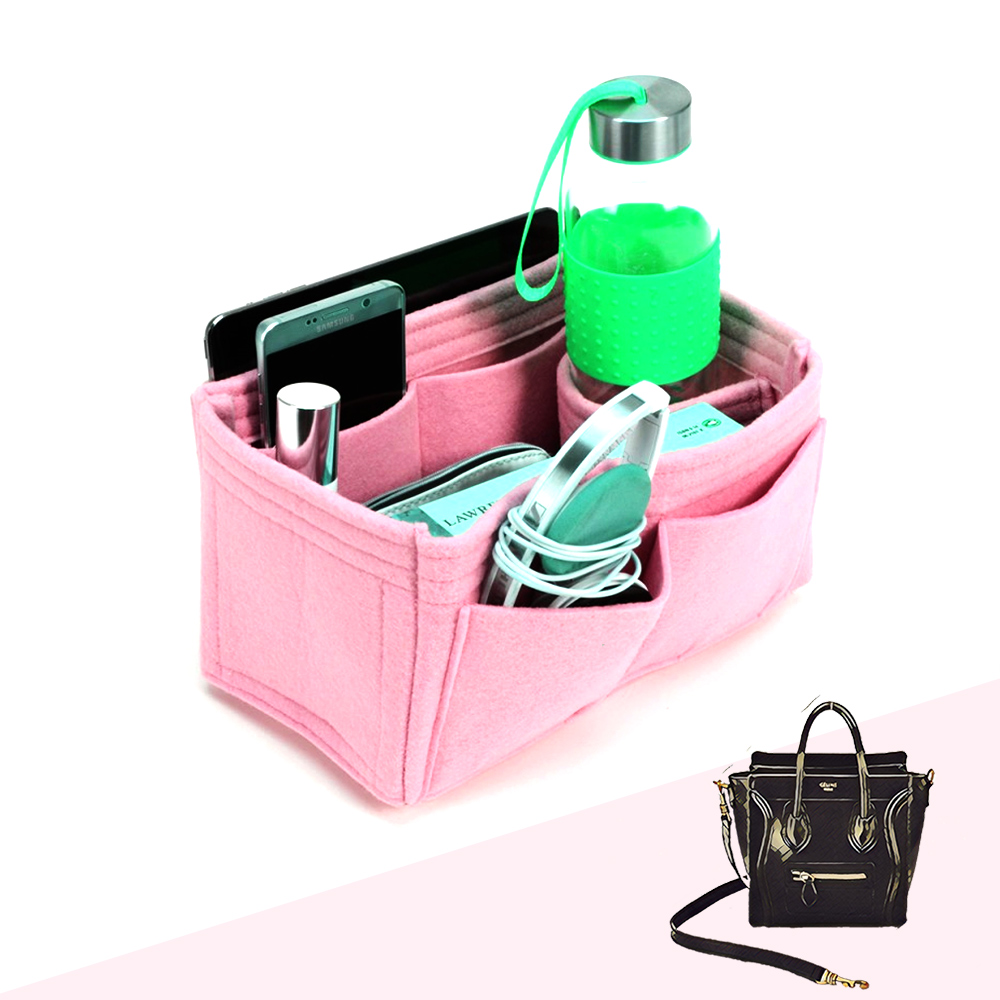 Bag and Purse Organizer with Singular Style for Celine Nano Luggage Bag
