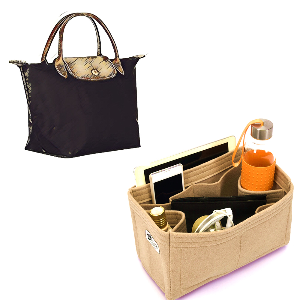 Bag and Purse Organizer with Regular Style for Longchamp Le pliage Small  Handbag c365e988f766b
