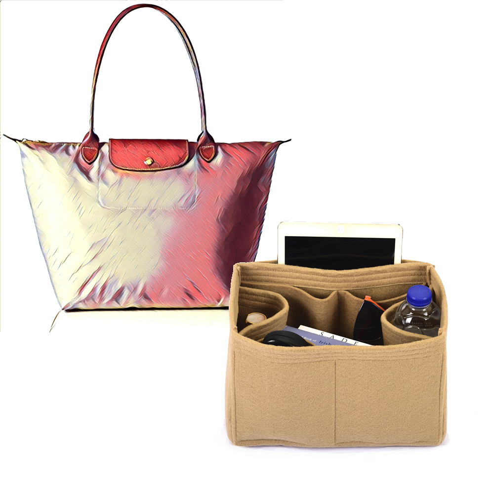 Bag and Purse Organizer with Regular Style for Longchamp Le pliage Tote Large
