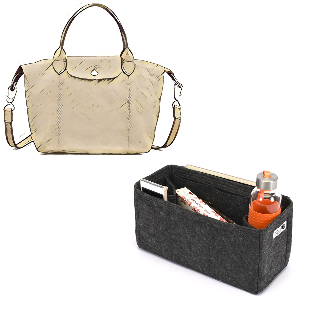 16a1ca34ca83b Bag and Purse Organizer with Regular Style for Longchamp Le pliage Cuir  Small Handbag
