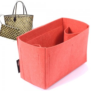 Felt Bag and Purse Organizer in Vermillion Red Color for Louis Vuitton