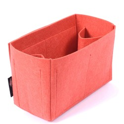 Felt Bag and Purse Organizer in Vermillion Red Color for Mulberry Bags
