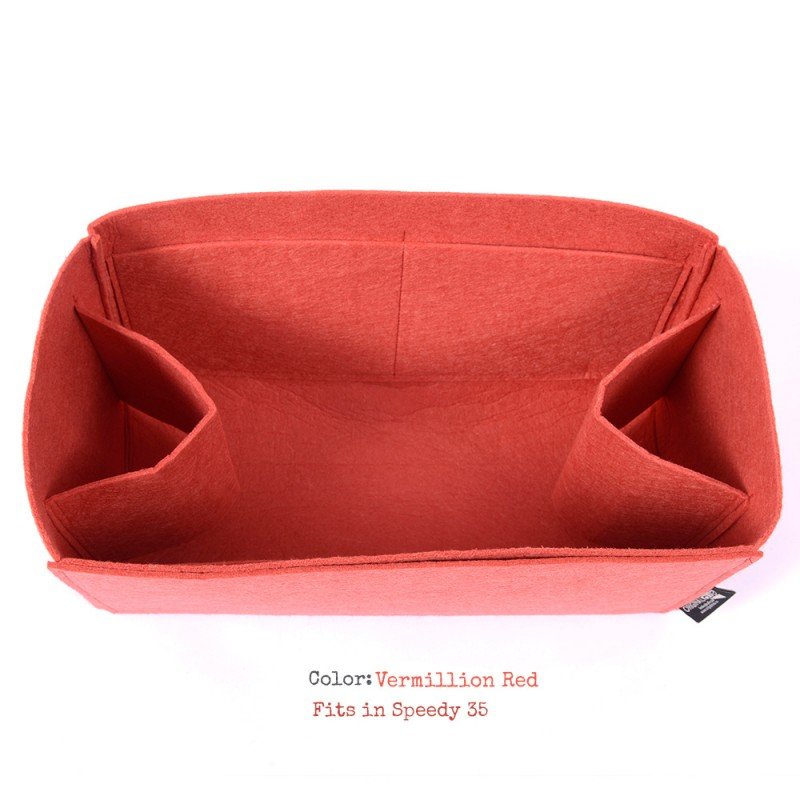 0af6fe763f4 Felt Bag and Purse Organizer in Vermillion Red Color for Mulberry Bags