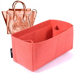 Felt Bag and Purse Organizer in Vermillion Red Color for Celine