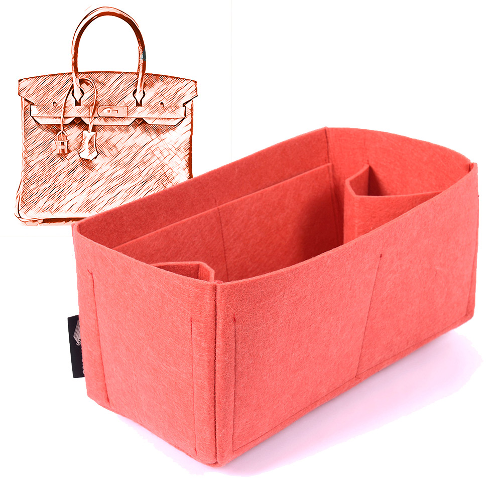 Felt Bag and Purse Organizer in Vermillion Red Color for Hermes Bags 95e52e16ef31