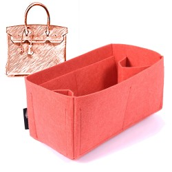 Felt Bag and Purse Organizer in Vermillion Red Color for Hermes Bags