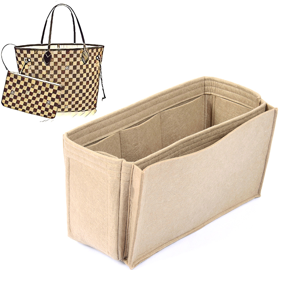 Bag and Purse Organizer with Side Compartment for Neverfull