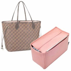 V-zip Style Felt Bag Organizer for Neverfull MM and GM (Blush Pink) (More Colors Available)