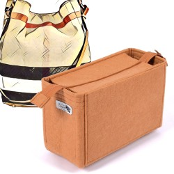 Bag and Purse Organizer with Zipper Top Style for Burberry Ashby Canvas Bag