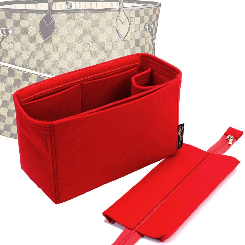 Handbag Organizer with Detachable Zipper Top Style for Neverfull PM, MM and GM (More colors available)