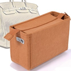 Bag and Purse Organizer with Zipper Top Style for Hermes Birkin 35 and Birkin 40