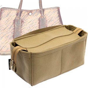 Bag and Purse Organizer with Zipper Top Style for Hermes Garden Party Models