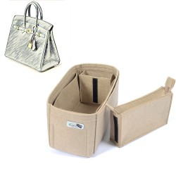 Bag and Purse Organizer with Zipped Compartment Style for Birkin 35 and Birkin 40