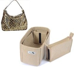 Bag and Purse Organizer with Zipped Compartment Style for Delightful MM (2010-14 model) and Delightful GM