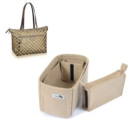 Bag and Purse Organizer with Zipped Compartment Style for LV Iena MM