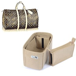 Bag and Purse Organizer with Zipped Compartment Style for LV Keepall 45