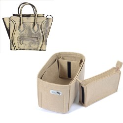 Bag and Purse Organizer with Zipped Compartment Style for Celine Mini Luggage Bag