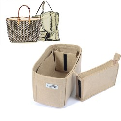 Bag and Purse Organizer with Zipped Compartment Style for Goyard St. Louis GM and Anjou GM
