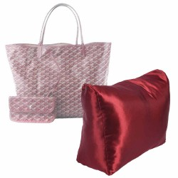 Satin Pillow Luxury Bag Shaper For St. Louis GM / PM (Burgundy) - More colors available
