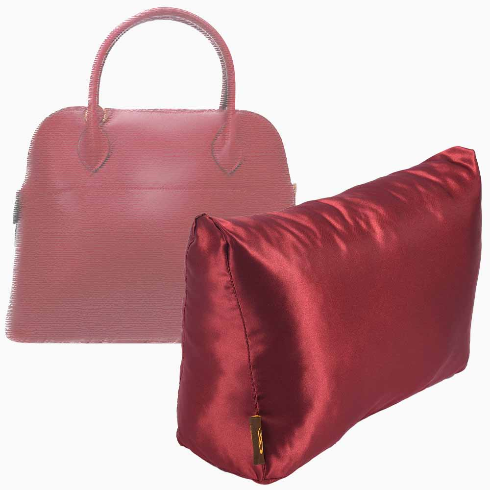 Satin Pillow Luxury Bag Shaper For Hermes' Bolide 27/ 31and 35 (Burgundy) - More colors available