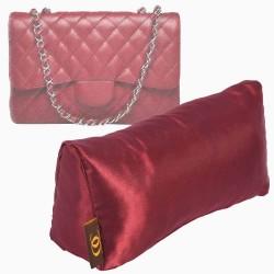 Satin Pillow Luxury Bag Shaper For Classic / 2.55 Flap Closure Shoulder Bag ( Medium, Jumbo, Maxi ) (Burgundy) - More colors available