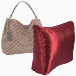 Satin Pillow Luxury Bag Shaper For Louis Vuitton Graceful PM and MM (Burgundy) (More colors available)