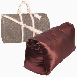 Satin Pillow Luxury Bag Shaper For Louis Vuitton Keepall (Chocolate Brown) (More colors available)