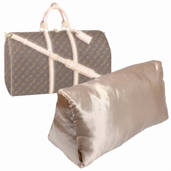 Satin Pillow Luxury Bag Shaper For Louis Vuitton Keepall (Champagne) (More colors available)
