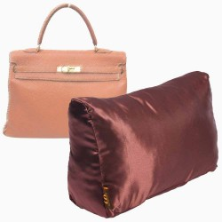 Satin Pillow Luxury Bag Shaper For Hermes' Kelly 28/32/35 (Chocolate Brown) (More colors available)